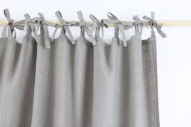 white tied natural linen curtain sevensmith