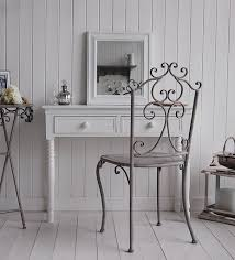 romantic wrought iron chair for classic dressing room with chic