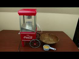 coca cola air popcorn maker youtube