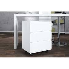 bureau blanc laqué rangements pro caisson de rangement à 3 tiroirs pour bureau col