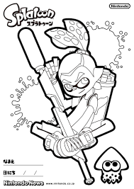 splatoon coloring pages just colorings