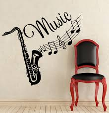 popular home music studio buy cheap home music studio lots from wall decal musical instrument saxophone decals recording studio music home china mainland