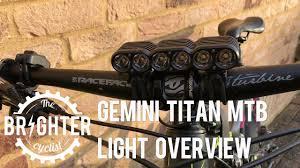 best mountain bike lights 2017 gemini titan mtb light overview youtube