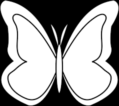 butterflies black and white outline free download clip art