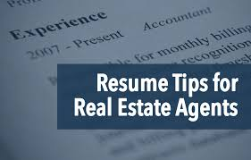 Job Resume Tips by The Real Estate Agent Resume Examples U0026 Tips Placester
