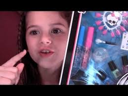 tutorial for monster high makeup sched with style beauty frankie stein set review and demo for kids you