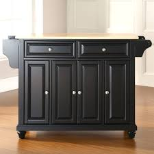 crosley furniture alexandria natural wood top kitchen island
