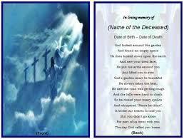 Beautiful Funeral Programs 7 Best Images Of Free Printable Memorial Card Templates Free