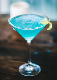 blue cocktails electric martini cocktail recipe monster cocktails