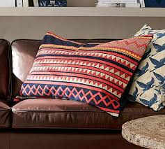 Pottery Barn Kilim Pillow Cover Mia Appliqué Lumbar Pillow Cover Pottery Barn