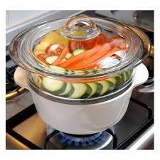 cuisiner vapeur cuit vapeur en verre vitrocéramique pyroflam pyrex vidélice