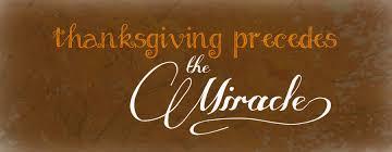 thanksgiving precedes the miracle rockingham christian church