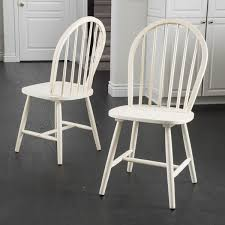 High Back Windsor Armchair Countryside High Back Spindle Wood Dining Chair Set Of 2 By