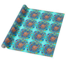 octopus wrapping paper turtle wrapping paper animals wrapping paper original wrapping