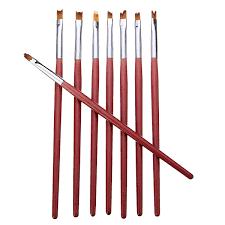 8pcs 3d french nail art diy painting drawing brush set acrylic uv