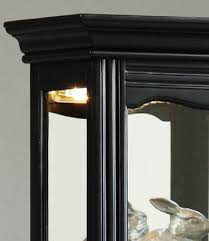 Specialty Lighting Curio Cabinet Narrow Curio Cabinet In Oxford Black By Pulaski Home Gallery Stores