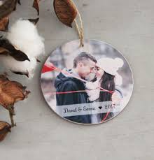 christmas ornament personalized photo ornament couple christmas