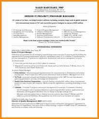 sample resume project manager project manager resume sample pmp