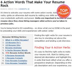 Good Action Verbs For Resumes Resume Action Verbs Example