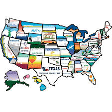 United States License Plate Map by States Sticker Brothers 100 Travel Accessories Camping World