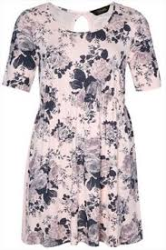 yoursclothing womens plus size black and floral print frill maxi