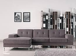 Sectional Gray Sofa Forli Sectional Sofa In Grey Fabric 1071b By Vig W Metal Legs