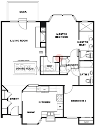 Belmonte Builders Floor Plans Ridge Woodside Floorplan 1241 Sq Ft Rossmoor
