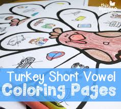free short vowel coloring pages thanksgiving png