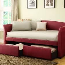 interior luxurious lexington red vinyl sofa with white slipper
