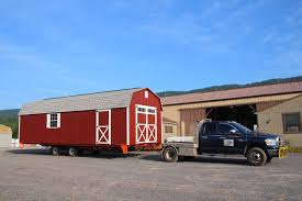 Trailer Garage by How We Build Your Shed Mini Barns Storage Sheds Garages