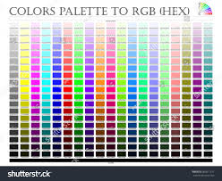 color palette composition shade chart conform stock vector