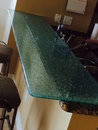 cracked glass table top the glass shoppe a division of builders