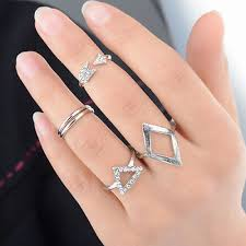 knuckle rings set images 9017 women arrow silver ring triangle joint knuckle ring set of 5 jpg