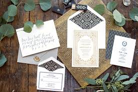 gold foil wedding invitations florentine suite hello tenfold wedding invitations