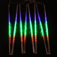 8pcs set multi color 50cm meteor shower outdoor led
