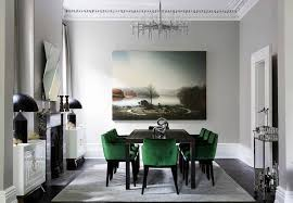 Green Dining Room Chairs Astounding Green Dining Room Upholstered Regarding Popular