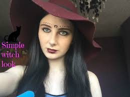 simple witch makeup halloween youtube
