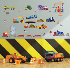 amazon com big city construction wall decals wall art for kids