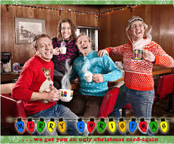bad christmas sweaters can make for a great christmas card