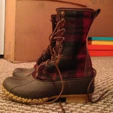 womens ll bean boots size 11 98 l l bean boots plaid wool ll bean duck boots from