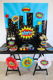 superhero wedding table decorations budget friendly superhero party ideas with hobby lobby michelle s