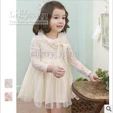 2017 lace girls party dresses autumn lace butterfly long sleeve
