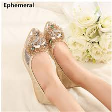 compare prices on flat wedding shoes in silver online shopping