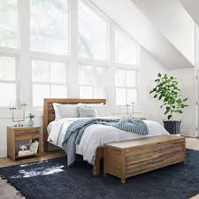 bay reclaimed pine bed rustic natural west elm
