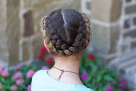 Simple Girls Hairstyles by Easy Fold Up Braids Back To Hairstyles Cute Girls