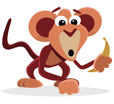 monkey eating banana clipart cliparts for you