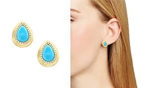 turquoise stud earrings turquoise earrings bloomingdale s