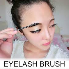 eyelash brush for eyelash extension soft eyebrow brush 10cm black