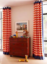 Orange And White Striped Curtains Impressive Orange Striped Curtains And Black And White Striped