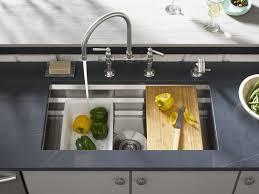 prolific stainless steel kitchen sink silestone eternal charcoal soapstone countertop hirise kitchen sink
